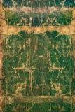 Vecchio fondo di legno incrinato verde, superficie di legno rustica con lo spazio della copia Fotografia Stock