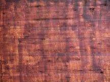 Vecchio fondo di legno naturale nel colore rossastro fotografie stock