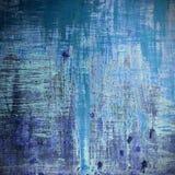 Vecchio fondo di legno nel colore blu Fotografie Stock
