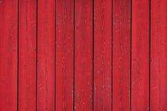 Vecchio fondo di legno rosso rustico della plancia Immagini Stock Libere da Diritti