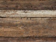 Vecchio legno sopravvissuto della plancia Immagini Stock