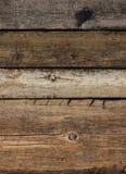 Vecchio legno sopravvissuto della plancia Immagine Stock Libera da Diritti