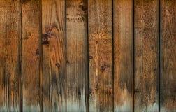 Vecchio fondo di legno stagionato del pannello Fotografie Stock Libere da Diritti