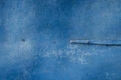 Vecchio fondo di legno di struttura della plancia colorato blu fotografie stock libere da diritti