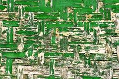 Vecchio fondo di legno verde della parete fotografia stock libera da diritti