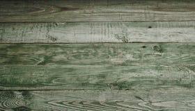 Vecchio fondo di legno verde rustico Vista superiore Immagini Stock
