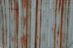 Vecchio fondo di Roofting dello zinco Immagine Stock
