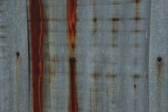 Vecchio fondo di Roofting dello zinco Fotografie Stock Libere da Diritti