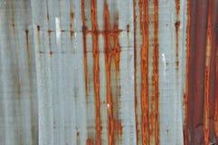 Vecchio fondo di Roofting dello zinco Fotografia Stock Libera da Diritti