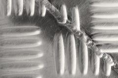 Vecchio fondo di saldatura del ferro della cucitura Fotografia Stock
