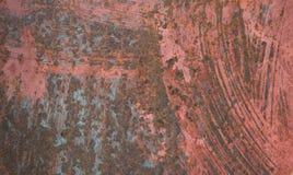 Vecchio fondo dipinto d'annata astratto della lamiera di acciaio della ruggine Fotografia Stock