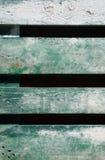 Vecchio fondo dipinto verde sbiadito legno stagionato Fotografia Stock