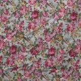Vecchio fondo floreale d'annata di carta corrugato delle rose Illustrazione di Stock
