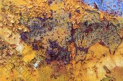 Vecchio fondo giallo astratto arrugginito Immagini Stock Libere da Diritti
