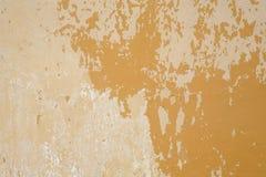 Vecchio fondo giallo della parete Fotografie Stock