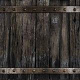 Vecchio fondo medievale di legno del barilotto Fotografie Stock