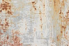 Vecchio fondo metallico dipinto con ruggine immagine stock libera da diritti