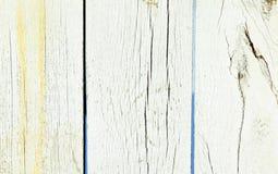 Vecchio fondo misero di bianco di legno naturale Immagini Stock Libere da Diritti