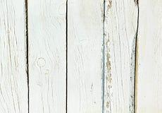 Vecchio fondo misero di bianco di legno naturale Fotografie Stock