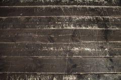 Vecchio fondo o struttura di legno del pavimento della parete della plancia Fotografie Stock