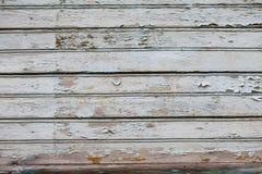 Vecchio fondo orizzontale bianco della plancia Fotografie Stock