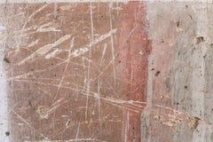 Vecchio fondo orizzontale concreto bianco rosso invecchiato di Gray Brick Wall Texture Destroyed Brickwall sudicio urbano misero Fotografia Stock