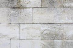 Vecchio fondo orizzontale concreto bianco rosso invecchiato di Gray Brick Wall Texture Destroyed Struttura sudicia urbana misera  fotografia stock