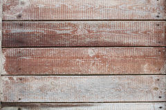 Vecchio fondo orizzontale marrone della plancia Fotografie Stock Libere da Diritti