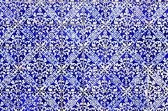 Vecchio fondo portoghese del mosaico Fotografia Stock Libera da Diritti
