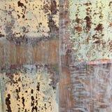 Vecchio fondo riciclato di legno grungy Fotografie Stock