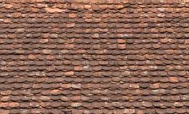 Vecchio fondo rosso delle mattonelle di tetto Fotografia Stock Libera da Diritti