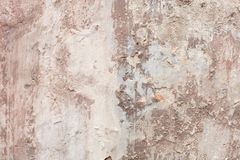 Vecchio fondo scheggiato beige di struttura della parete fotografie stock libere da diritti