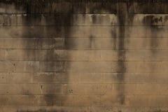 Vecchio fondo scuro del mattone Fotografia Stock