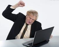 Uomo sollecitato di affari Immagini Stock