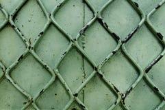 Vecchio fondo verde del metallo Fotografie Stock