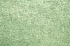 Vecchio fondo verde di tela del materiale di struttura della tela da imballaggio Immagine Stock