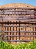 Vecchio forno del metallo e del mattone Fotografia Stock Libera da Diritti