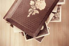 Vecchio foto-album fotografia stock