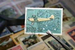 Vecchio francobollo Fotografie Stock