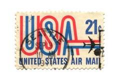 Vecchio francobollo dal centesimo degli S.U.A. 21 Immagini Stock