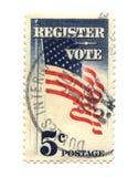 Vecchio francobollo dal centesimo degli S.U.A. cinque Fotografia Stock Libera da Diritti