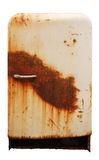 Vecchio frigorifero arrugginito Fotografia Stock