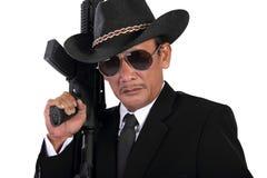 Vecchio fronte del gangster Fotografie Stock Libere da Diritti
