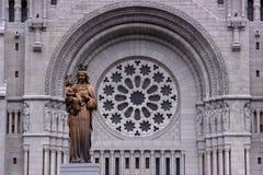 Vecchio fronte della chiesa nel Canada Fotografie Stock