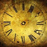 Vecchio fronte di orologio con le strutture attraenti di lerciume Fotografia Stock