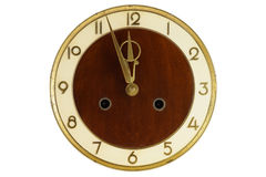 Vecchio fronte di orologio dell'annata Immagine Stock