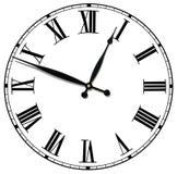 Fronte di orologio antico isolato Immagine Stock