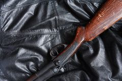 Vecchio fucile da caccia di caccia Fotografia Stock