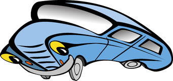 Vecchio fumetto divertente dell'automobile Fotografia Stock
