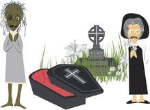 Vecchio funerale Fotografia Stock